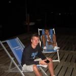 Riccardo e me seduto sullo sfondo